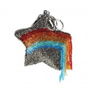 Mary Frances When You Wish Rainbow Star Keychain